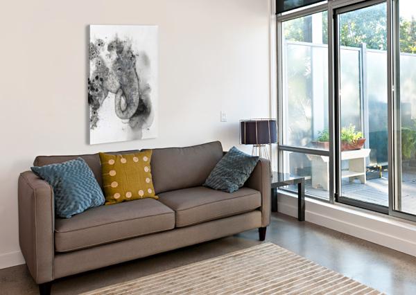 ILLUSTRATION OF AN ELEPHANT'S HEAD PACIFICSTOCK  Canvas Print