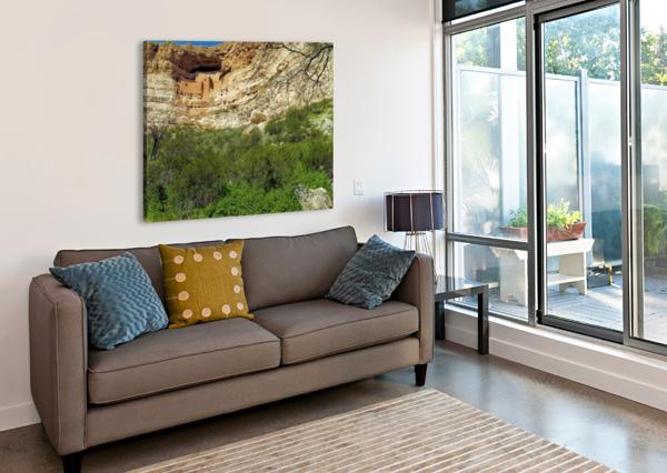 MONTEZUMA'S CASTLE-14 ARIZONA PHOTOS BY JYM  Impression sur toile