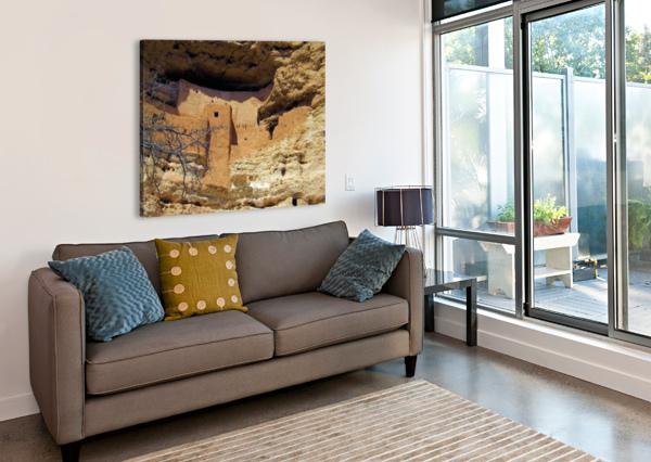 MONTEZUMA'S CASTLE-12 ARIZONA PHOTOS BY JYM  Impression sur toile