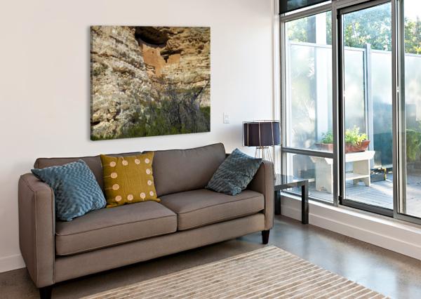 MONTEZUMA'S CASTLE-5 ARIZONA PHOTOS BY JYM  Impression sur toile