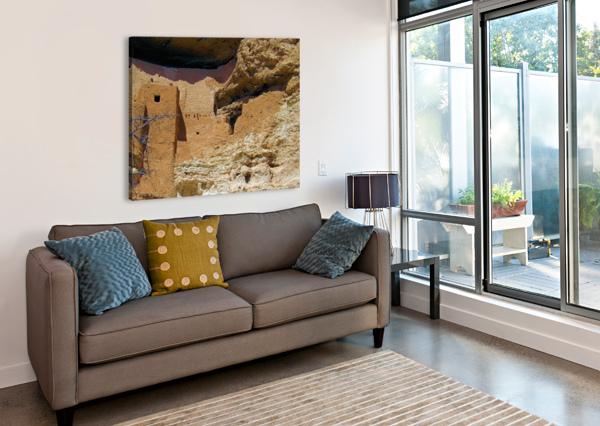 MONTEZUMA'S CASTLE-4 ARIZONA PHOTOS BY JYM  Impression sur toile