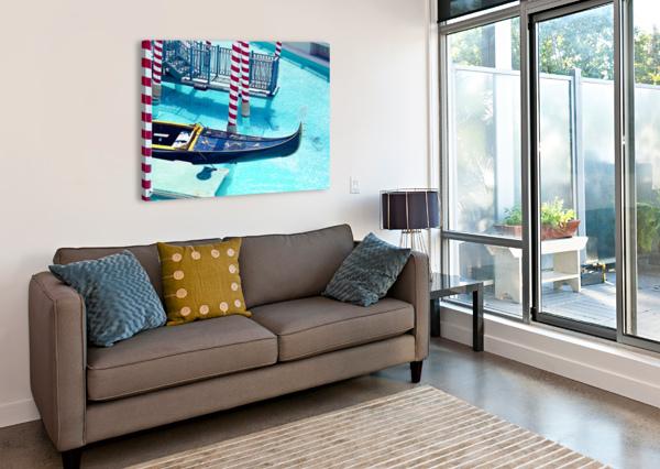 CLASSIC GONDOLA BOAT AND BLUE WATER TIMMYLA  Canvas Print