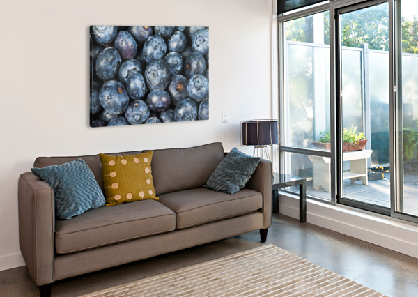 CLOSE UP SHOT OF SEVERAL FRESH BLUEBERRIES. PACIFICSTOCK  Canvas Print