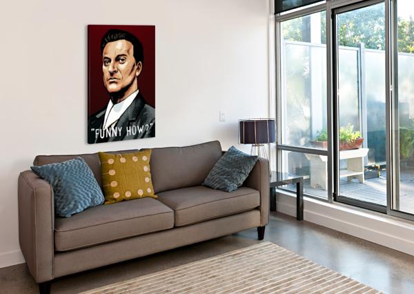 JOE PESCI IN GOODFELLAS - FUNNY HOW DAN  AVENELL  Canvas Print