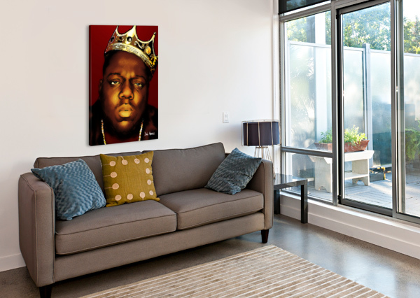 BIGGIE SMALLS AKA NOTORIOUS B.I.G DAN  AVENELL  Canvas Print