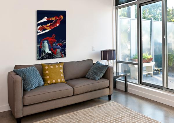 MARVEL: IRON MAN & SPIDER-MAN DAN  AVENELL  Canvas Print