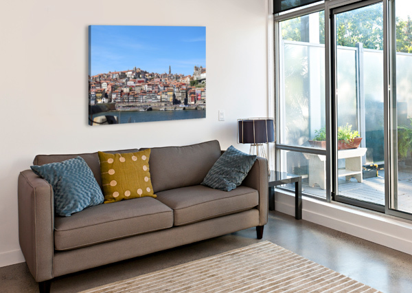 OPORTO CITY AT DOURO RIVER BALDACIARA  Canvas Print