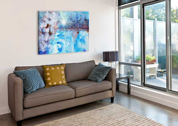 ABSTRACT WATERCOLOUR PAINTING WITH A STARBURST PACIFICSTOCK  Canvas Print