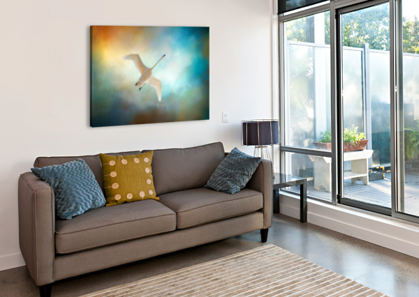 SWAN WINGS MICHEL SOUCY  Canvas Print