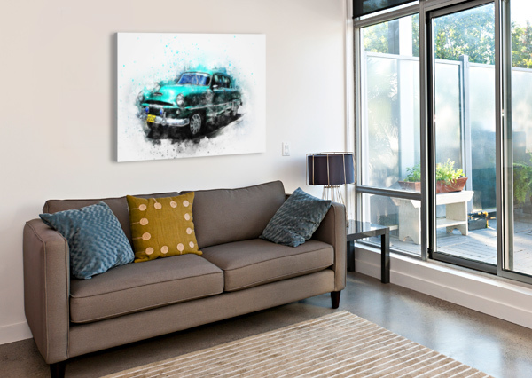 CAR STOCK PHOTOGRAPHY  Canvas Print