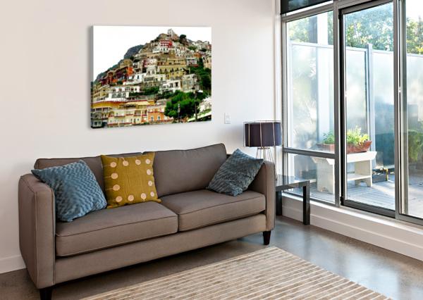 POSITANO VILLAGE IN AMALFI COAST - ITALY BENTIVOGLIO PHOTOGRAPHY  Canvas Print