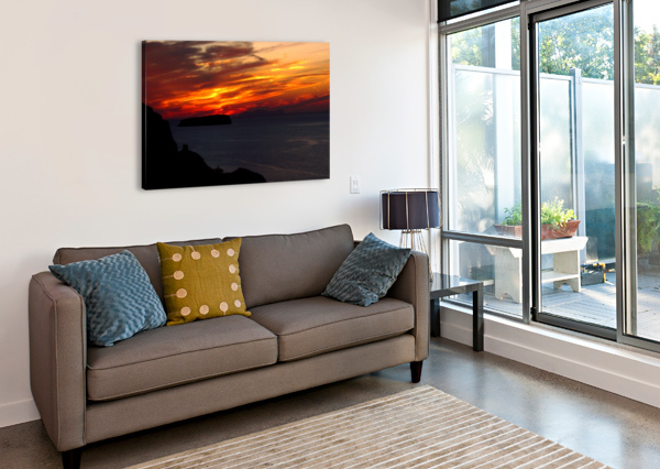 AMAZING SUNSET  BENTIVOGLIO PHOTOGRAPHY  Canvas Print