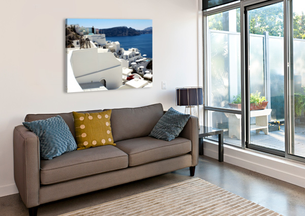 SANTORINI LANDSCAPE - GREECE BENTIVOGLIO PHOTOGRAPHY  Canvas Print