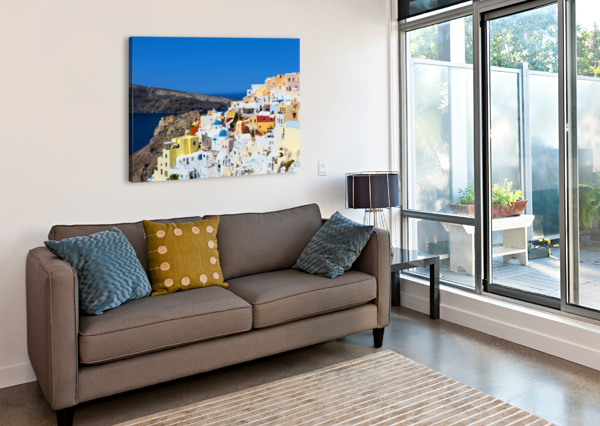SANTORINI LANDSCAPE - GREECE BENTIVOGLIO PHOTOGRAPHY  Canvas Print