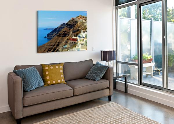 SANTORINI MOUNTAINS LANDSCAPE - GREECE BENTIVOGLIO PHOTOGRAPHY  Canvas Print