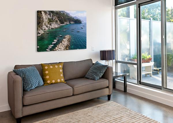 AMALFI COAST - CONCA DEI MARINI BEACH - ITALY BENTIVOGLIO PHOTOGRAPHY  Canvas Print