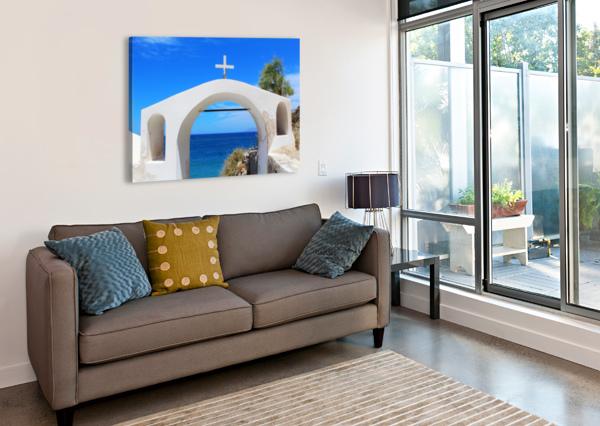 THE ARCH - SANTORINI ISLAND BENTIVOGLIO PHOTOGRAPHY  Canvas Print