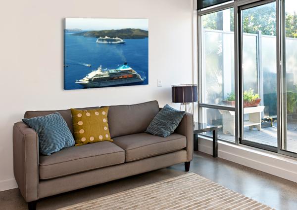 THE CRUISE SHIP IN THE BLUE OCEAN BENTIVOGLIO PHOTOGRAPHY  Canvas Print