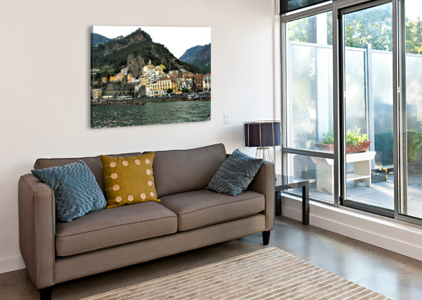 ITALIAN VILLAGE LANDSCAPE - AMALFI BENTIVOGLIO PHOTOGRAPHY  Canvas Print