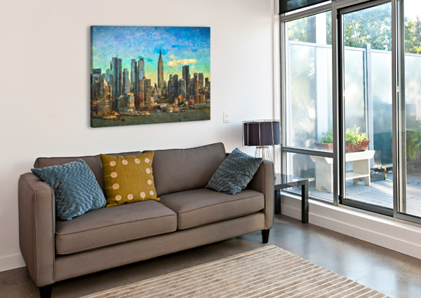 NEW YORK SKYLINE JACQUELINE SLETER  Canvas Print