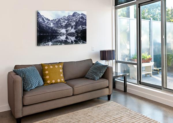 MOUNTAINS IN THE LAKE ANN ROMANENKO  Canvas Print