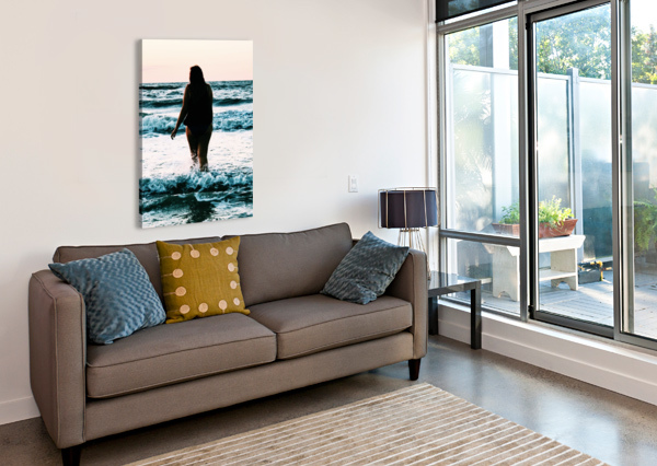 BLUE SEA ALISONGABRIELA  Canvas Print