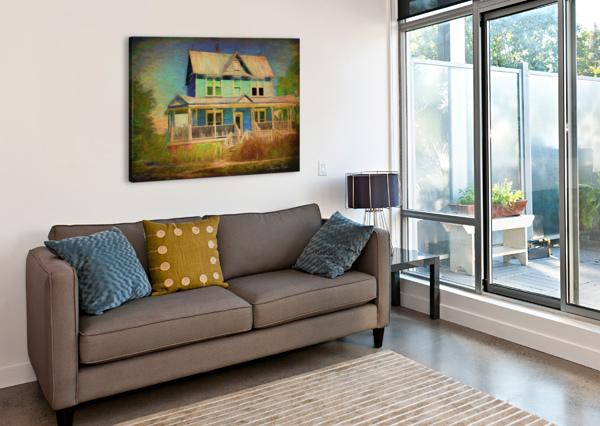 VALENTINE HOUSE OIL JACQUELINE SLETER  Canvas Print