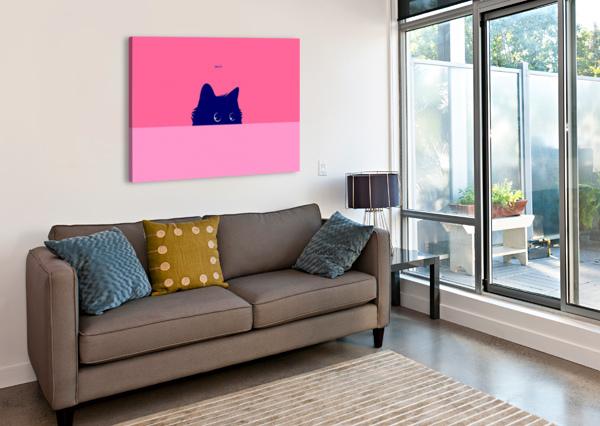 CAT ON DEEP PINK ZELKO RADIC BFVRP  Canvas Print