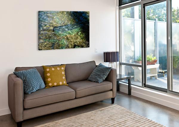LAKE CRYSTAL AMBER HANDY  Canvas Print