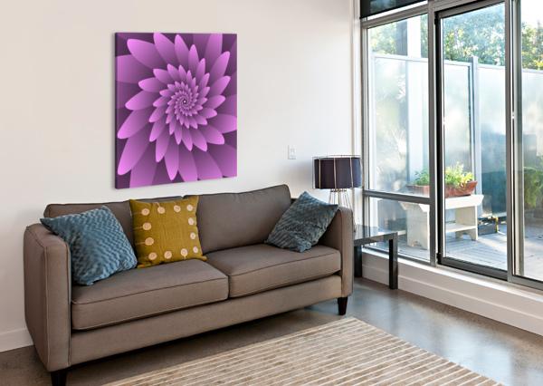 3D FLORAL MODERN ARTWORK RIZU_DESIGNS  Canvas Print
