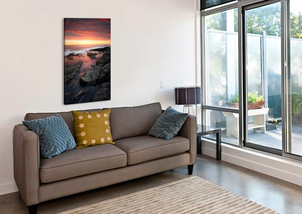 SUNSET OVER ROCKY COASTLINE JOHAN SWANEPOEL  Canvas Print