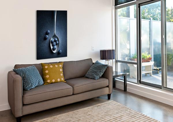 BLUEBERRIES ON SPOON STILL LIFE JOHAN SWANEPOEL  Canvas Print