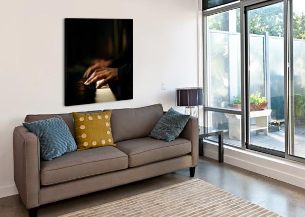 HANDS PLAYING PIANO CLOSE-UP JOHAN SWANEPOEL  Canvas Print