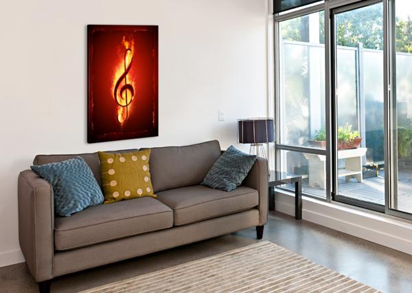 HOT MUSIC JOHAN SWANEPOEL  Canvas Print