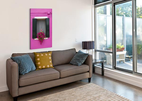 COLORED WINDOW IN BURANO PIETRO EBNER  Canvas Print