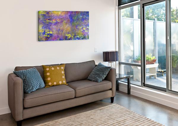 WATER LILIES - (YELLOW NIRVANA) BY MONET MONET  Canvas Print
