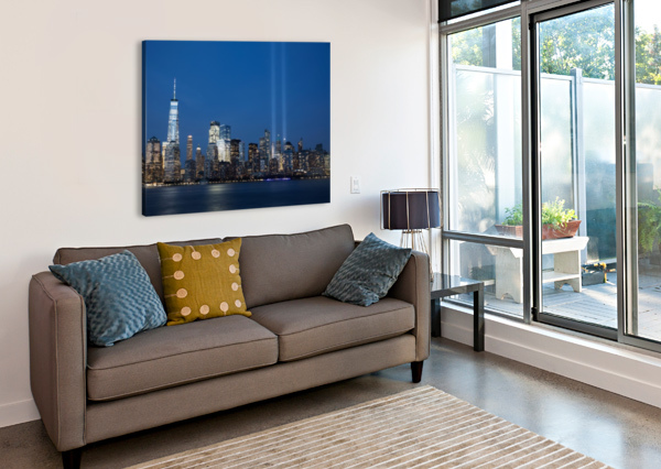911 MEMORIAL LIGHTS NYC SKYLINE KAYE  Canvas Print