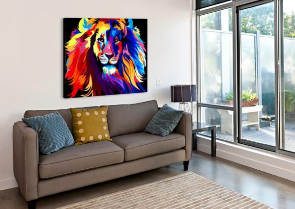 LION RAINBOW YUROVICH GALLERY  Canvas Print