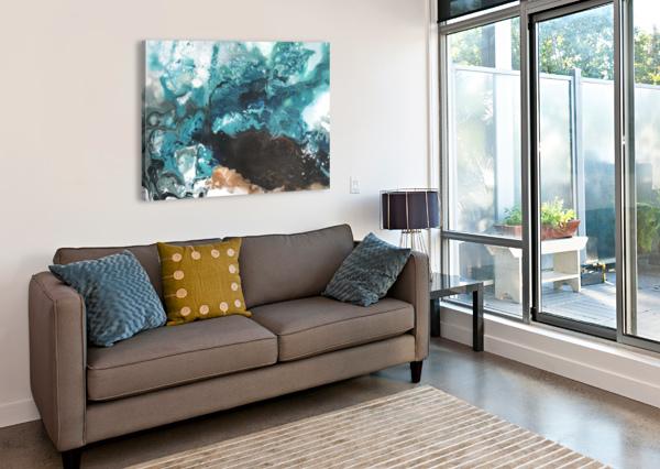 OCEAN GLASS YUROVICH GALLERY  Canvas Print