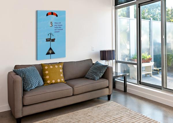 SKYDIVINGSQUIRREL CHERYL BARKER  Canvas Print