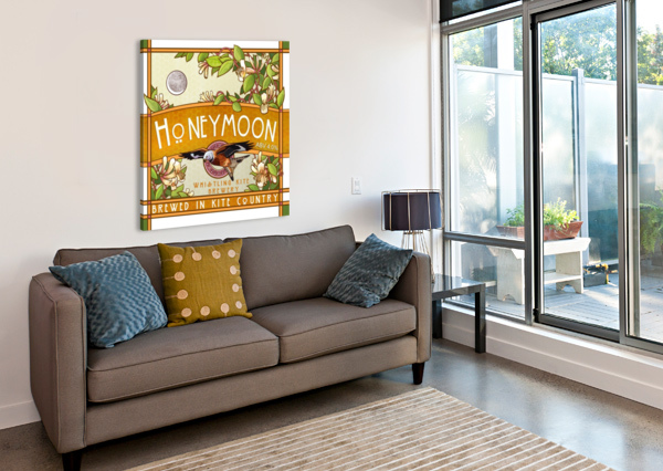 WHISTLING KITE BREWERY: HONEYMOON ALEX HOLT  Canvas Print