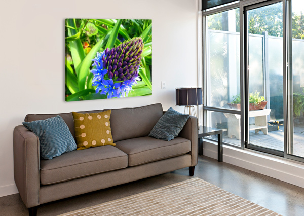 BLUE FLOWER WAYNE HENRY  Canvas Print