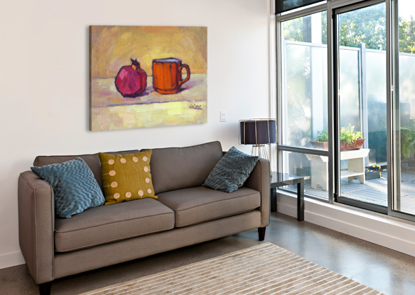 POMEGRANATE AND RED CUP IVAN KOLISNYK  Canvas Print