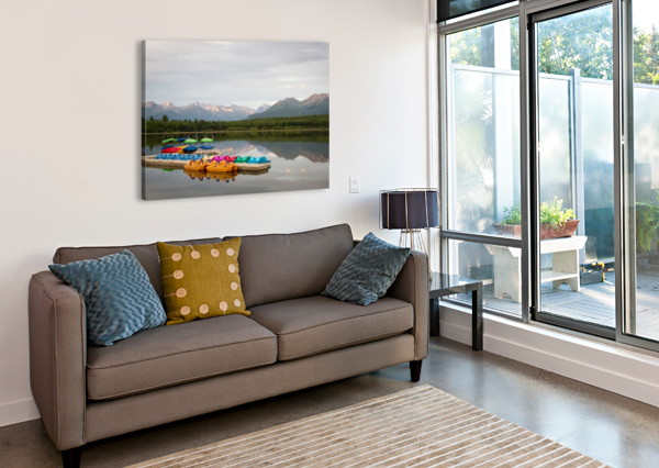 ALASKA LAKE AND SPORTING 3QUARTERS IMAGES  Impression sur toile