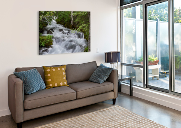 BEAUTIFUL WATERFALL PHOTOGRAPH 3QUARTERS IMAGES  Impression sur toile