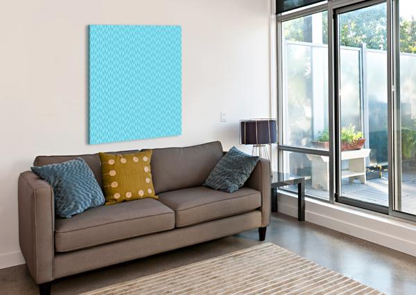 BLUE LEAF PATTERN ART RIZU_DESIGNS  Canvas Print
