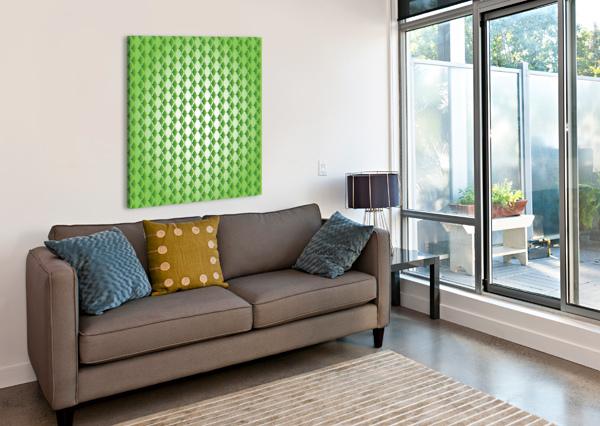 ISLAMIC ART GREEN COLOR ARTWORK RIZU_DESIGNS  Canvas Print