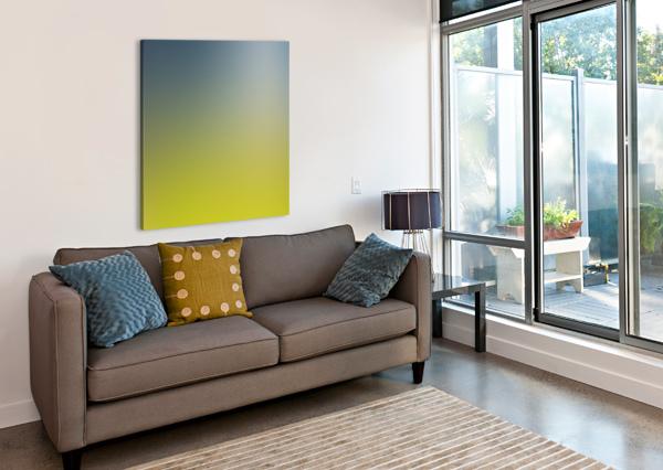 GREEN GRADIENT BACKGROUND RIZU_DESIGNS  Canvas Print