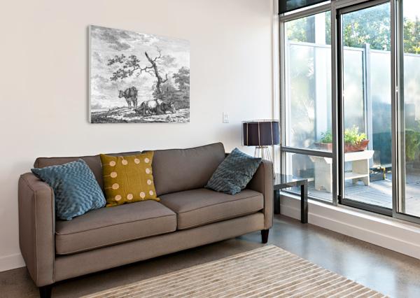 PINK TO YELLOW GRADIENT BACKGROUND RIZU_DESIGNS  Canvas Print