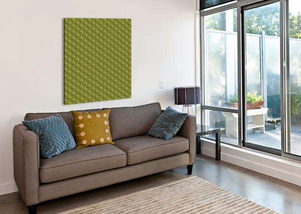 GREEN LAND RIZU_DESIGNS  Canvas Print